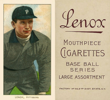 1909 White Borders Lenox-Brown Leach, Pittsburgh #279 Baseball Card
