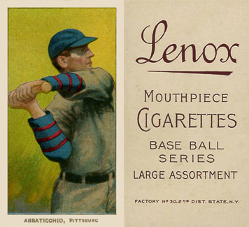 1909 White Borders (Brown Lenox) Ed Abbaticchio #1 Baseball Card