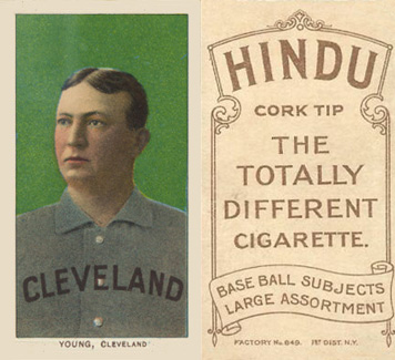 1909 White Borders Hindu-Brown Young, Cleveland #523 Baseball Card