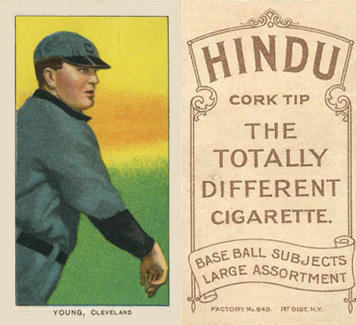 1909 White Borders (Brown Hindu) Cy Young #522 Baseball Card