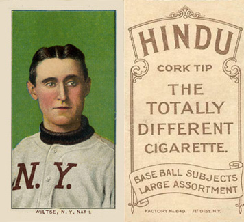 1909 White Borders (Brown Hindu) Hooks Wiltse #518 Baseball Card
