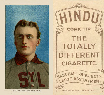 1909 White Borders Hindu-Brown Stone, St. Louis Amer. #466 Baseball Card