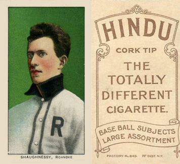 1909 White Borders Hindu-Brown Shaughnessy, Roanoke #439 Baseball Card