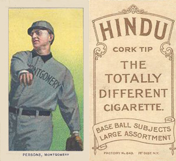 1909 White Borders Hindu-Brown Persons, Montgomery #387 Baseball Card