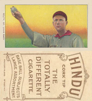 1909 White Borders Hindu-Brown Pelty, St. Louis Amer. #383 Baseball Card