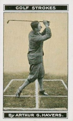 1923 B. Morris & Sons Golf Stoke Series Finish of Swing #19 Boxing & Other Card