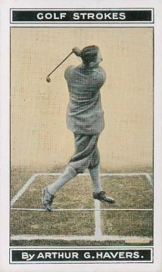 1923 B. Morris & Sons Golf Stoke Series Finish of Swing #9 Boxing & Other Card