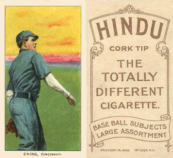 1909 White Borders Hindu-Brown Ewing, Cincinnati #169 Baseball Card