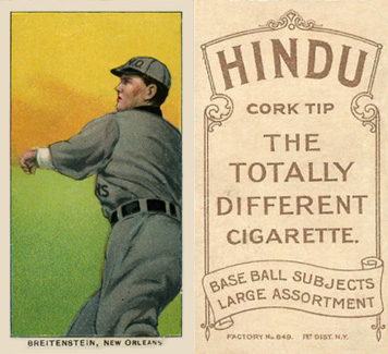 1909 White Borders Hindu-Brown Breitenstein, New Orleans #50 Baseball Card
