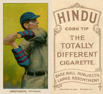1909 White Borders (Brown Hindu) Ed Abbaticchio #1 Baseball Card