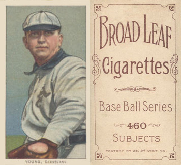 1909 White Borders (Broadleaf 460) Cy Young #521 Baseball Card