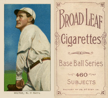 1909 White Borders (Broadleaf 460) Hooks Wiltse #517 Baseball Card