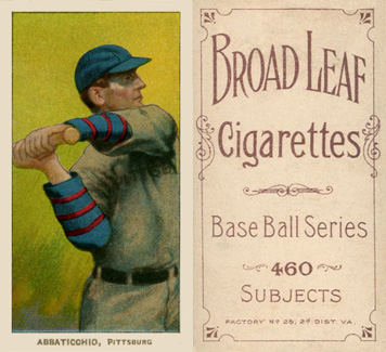 1909 White Borders (Broadleaf 460) Ed Abbaticchio #1 Baseball Card
