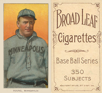 1909 White Borders (Broadleaf 350) Irv Young #524 Baseball Card