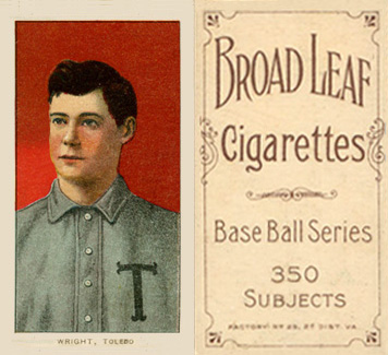 1909 White Borders (Broadleaf 350) Lucky Wright #520 Baseball Card