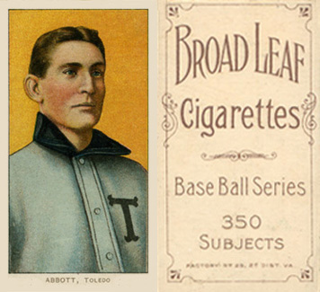1909 White Borders (Broadleaf 350) Fred Abbott #3 Baseball Card