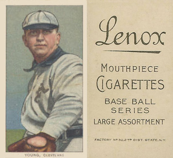 1909 White Borders (Black Lenox) Cy Young #521 Baseball Card
