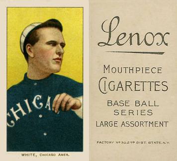 1909 White Borders (Black Lenox) Doc White #504 Baseball Card