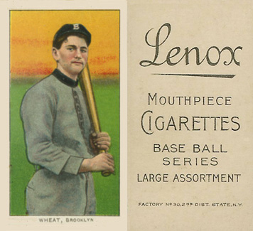 1909 White Borders (Black Lenox) Zach Wheat #503 Baseball Card