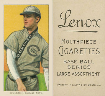 1909 White Borders (Black Lenox) Ed Reulbach #407 Baseball Card
