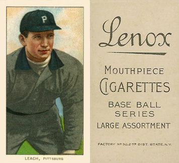 1909 White Borders Lenox-Black Leach, Pittsburgh #279 Baseball Card