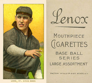 1909 White Borders Lenox-Black Lake, St. Louis Amer. #274 Baseball Card