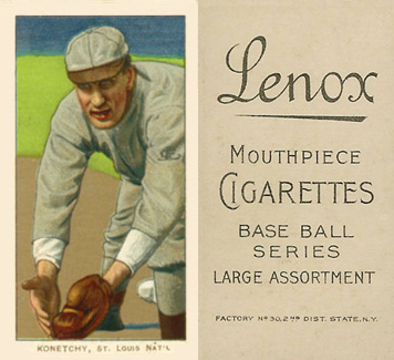 1909 White Borders Lenox-Black Konetchy, St. Louis Nat'L #263 Baseball Card
