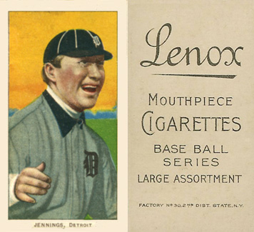 1909 White Borders (Black Lenox) Hugh Jennings #232 Baseball Card