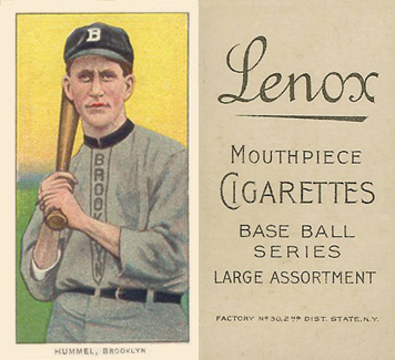 1909 White Borders (Black Lenox) John Hummel #227 Baseball Card