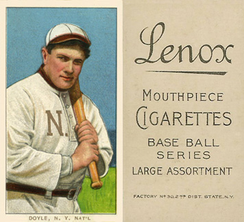 1909 White Borders Lenox-Black Doyle, N.Y. Nat'L #151 Baseball Card