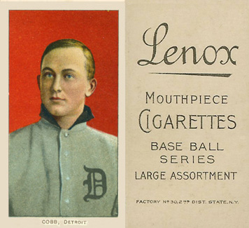 1909 White Borders (Black Lenox) Ty Cobb #96 Baseball Card