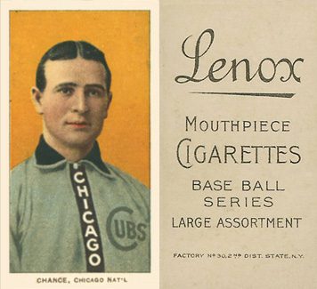 1909 White Borders (Black Lenox) Frank Chance #79 Baseball Card