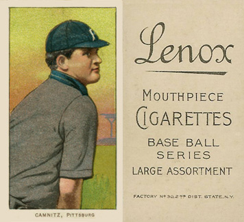 1909 White Borders Lenox-Black Camnitz, Pittsburgh #68 Baseball Card