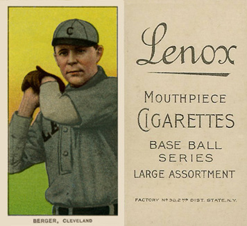 1909 White Borders (Black Lenox) Heinie Berger #37 Baseball Card