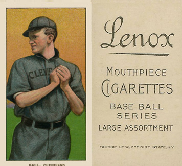1909 White Borders Lenox-Black Ball, Cleveland #17 Baseball Card