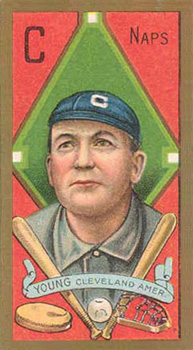 1911 Gold Borders (Hindu) Cy Young #220 Baseball Card