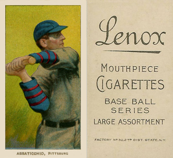 1909 White Borders (Black Lenox) Ed Abbaticchio #1 Baseball Card