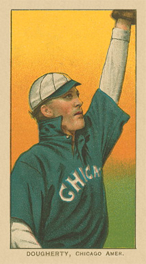 1909 White Borders Piedmont Factory 42 Dougherty, Chicago Amer. #142 Baseball Card