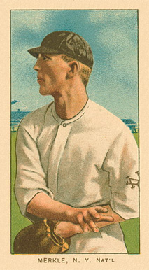 1909 White Borders Piedmont Factory 42 Merkle, N.Y. Nat'L #331 Baseball Card