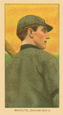 1909 White Borders (Factory 42) Wildfire Schulte #431 Baseball Card