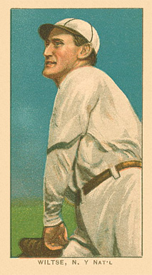 1909 White Borders (Factory 42) Hooks Wiltse #517 Baseball Card