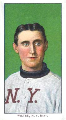 1909 White Borders (Factory 42) Hooks Wiltse #518 Baseball Card