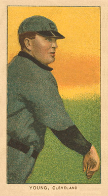1909 White Borders Piedmont Factory 42 Young, Cleveland #521 Baseball Card
