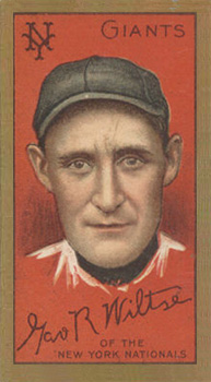 1911 Gold Borders (Drum) Hooks Wiltse #217 Baseball Card