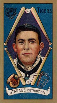 1911 Gold Borders Drum Oscar Stanage #191 Baseball Card