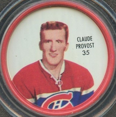 1962 Shirriff Coins Claude Provost #35 Hockey Card