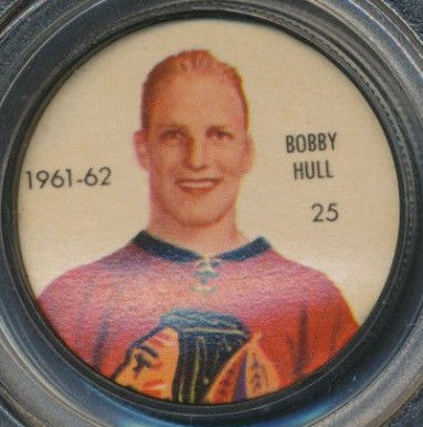 1961 Shirriff Coins Bobby Hull #25 Hockey Card