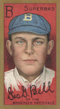 1911 Gold Borders Drum George Bell #16 Baseball Card