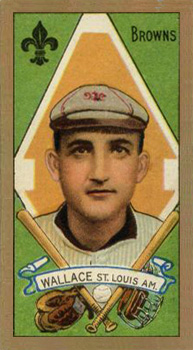 1911 Gold Borders Bobby Wallace #206 Baseball Card