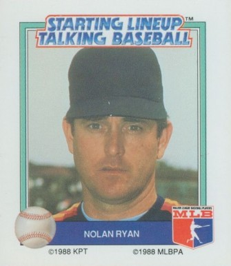 1988 Kenner Talking Baseball Nolan Ryan # Baseball Card